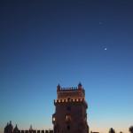 ポルトガル世界遺産ベレンの塔と月