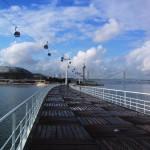 ポルトガルの水族館の桟橋