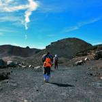 富士山山頂への道