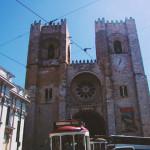 リスボンの街でプチ渋滞