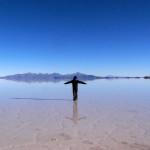 ウユニ塩湖の反射