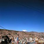 空気の薄いボリビア・ラパスの街