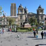 ボリビア・ラパスの公園の風景