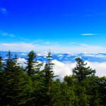 富士山五合目からの空