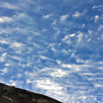 富士山八号目からの空