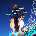 サンタモニカピアの遊園地のオブジェ
