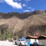 マチュピチュの山と青空