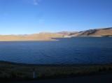 ペルーの山脈の湖