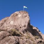 ウユニサボテン公園と旗