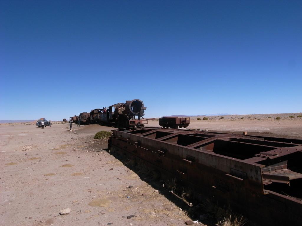 ウユニの廃列車