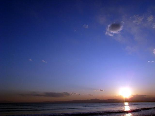 湘南の夕焼け