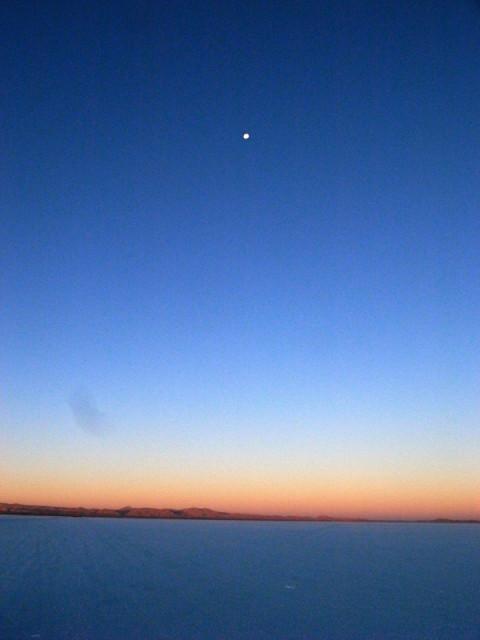 ウユニの夕焼け