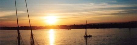 ナイル川の夕日