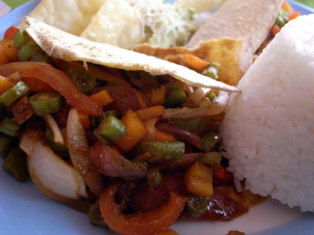 マチュピチュでタコス料理