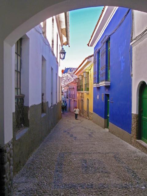 ボリビア・ラパスのカラフルな街