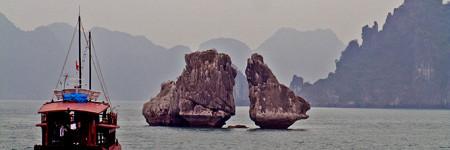 ハロン湾の岩