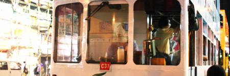 香港の2階立てバス