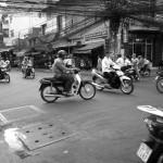 ベトナムの路上