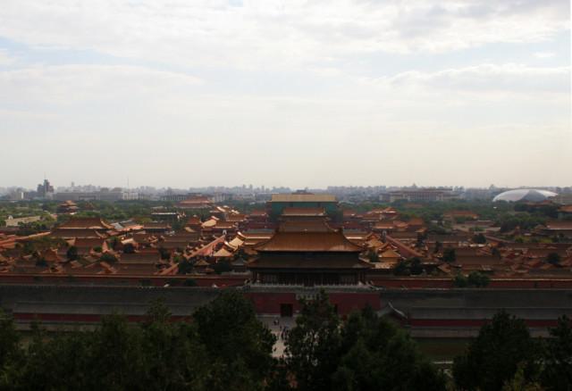 北京の紫禁城を上から