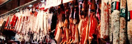 スペインの肉売り場